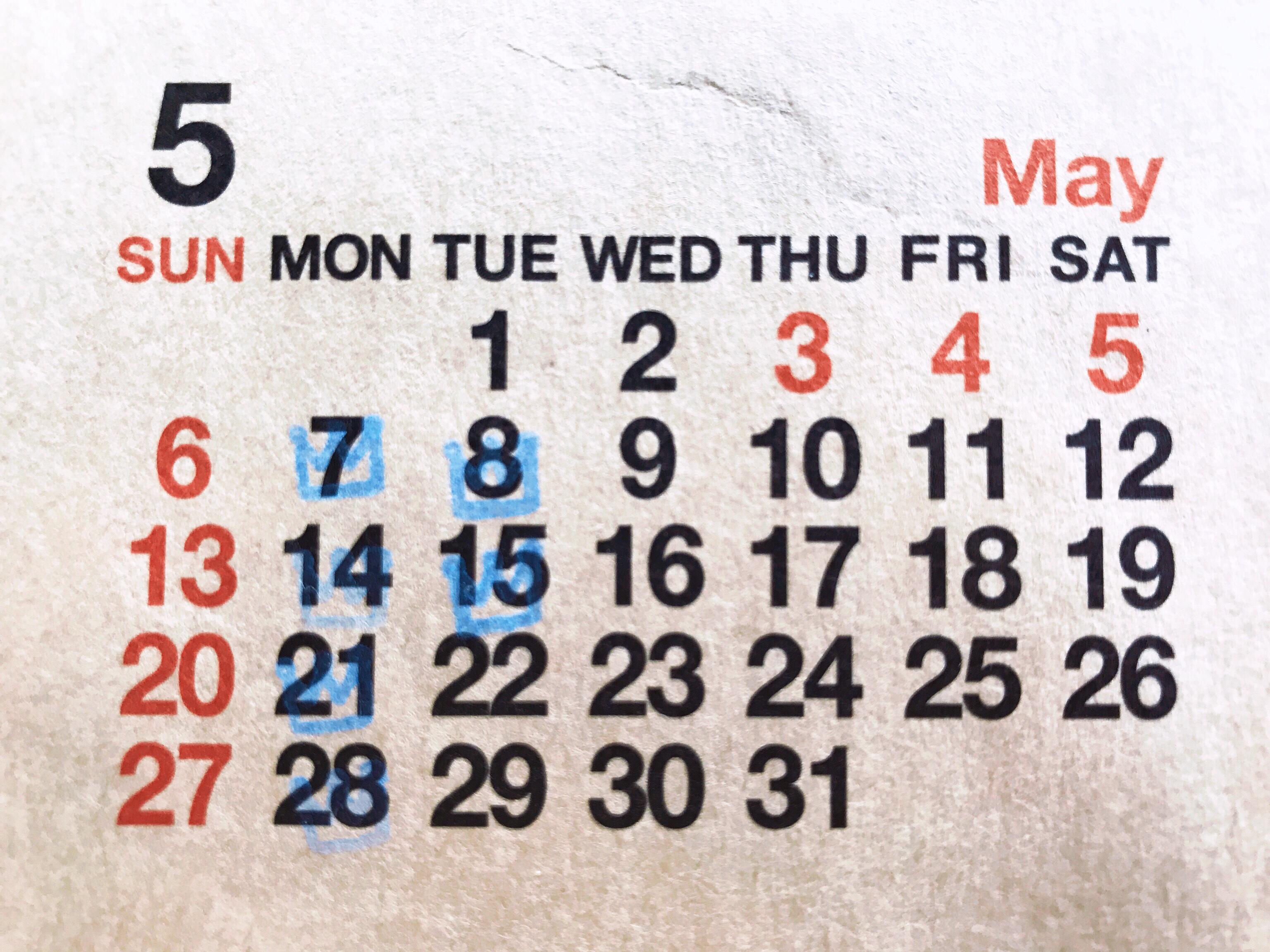 5月の定休日のお知らせです☆☆☆